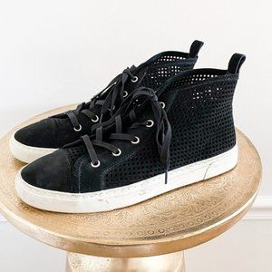 1 State Nordstrom Leather High Top Black Sneaker